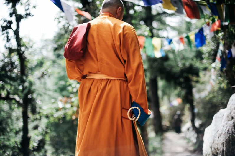 Buddhist monk practitioner